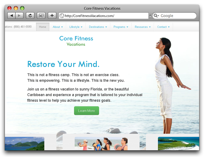 Core Fitness Vacations